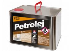 Severochema Petrolej určený na svietenie v petrolejových lampách a čistenie 4 L