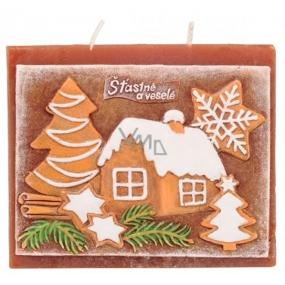 Candles Vianočné perník vonná sviečka plochá 130 x 100 mm