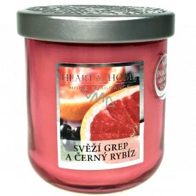 Heart & Home Svieža grep a čierne ríbezle Sójová vonná sviečka strednej horí až 30 hodín 115 g