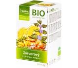 Apotheke Bio Zázvor s citrónom a mätou bylinný čaj napomáha k tráveniu, obranyschopnosti 20 x 1,5 g