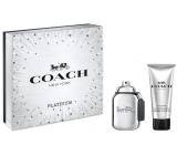 Coach Platinum toaletná voda pre mužov 60 ml + sprchový gél 100 ml, darčeková sada
