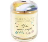 Heart & Home Pre novomanželov Sójová vonná sviečka strednej horí až 30 hodín 110 g