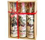 Kitl Syrob Bio Malina s dužinou sirup 500 ml + Višňa s dužinou sirup 500 ml + Čierne ríbezle s dužinou sirup 500 ml, darčekové balenie