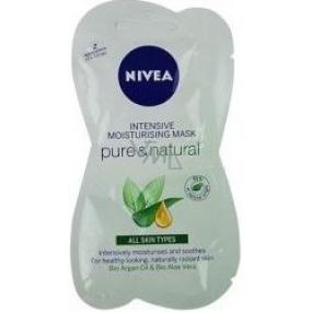 Nivea Pure & Natural Zvláčňující pleťová maska 2 x 7,5 ml
