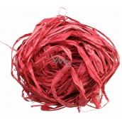 Raffia červená nafarbené lyko na dekoráciu 30 g