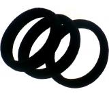 Vlasová gumička černá 4 x 1 cm 3 kusy