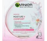 Garnier Moisture + Comfort superhydratační zklidňující textilní pleťová maska 15 minutová 32 g