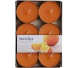 Bolsius Aromatic Maxi Juicy Orange s vůní pomeranče vonné čajové svíčky 6 kusů