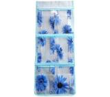 Vreckár na zavesenie modrý 59 x 24 cm 6 vreciek 714