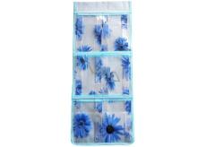 Kapsář na zavěšení modrý 59 x 24 cm 6 kapes 714