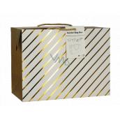 Anjel Taška darčeková krabica, uzatvárateľné, so zlatými prúžkami 18 x 12 x 9 cm