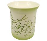 Aromalampa porcelánová so zelenými vážkami 11 cm