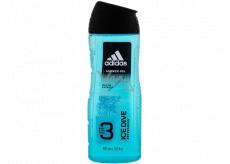 Adidas Ice Dive 3v1 sprchový gél na telo, vlasy a tvár pre mužov 400 ml