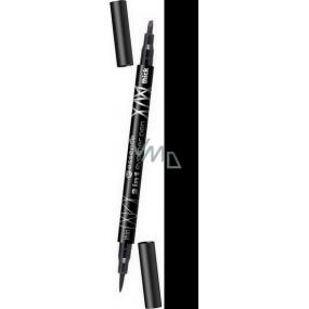 Essence Eyeliner Pen pero na oční linky 2v1 odstín černá 1 ml