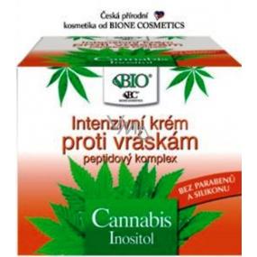 Bione Cosmetics Cannabis s peptidovým komplexem Intenzivní krém proti vráskám 51 ml