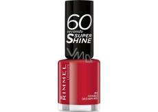 Rimmel London 60 Seconds Super Shine Nail Polish lak na nehty 310 Double Decker Red 8 ml