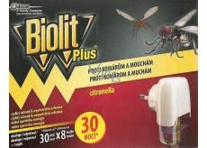 Biolit Plus Elektrický odparovač s vôňou CITRONELL proti komárom a muchám 30 nocí strojček + náplň 31 ml