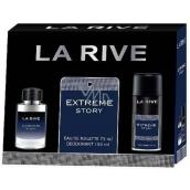 La Rive Extreme Story toaletná voda pre mužov 75 ml + dezodorant sprej 150 ml, darčeková sada