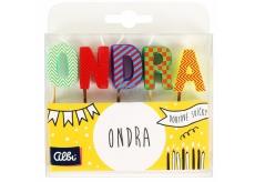Albi Tortové sviečky meno - Ondra, 2,5 cm