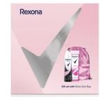 Rexona Orchid Fresh sprchový gel pre ženy 250 ml + Invisible Pure deodorant sprej pre ženy 150 ml + ružový ruksak, kozmetická sada