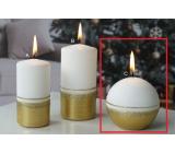 Lima Aróma línia sviečka zlatá guľa 80 mm 1 kus