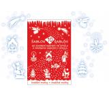 Šablóny vianočné dekoračné 10 motívov 31 x 21 cm