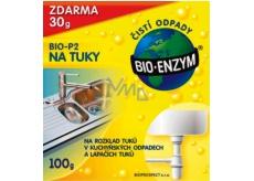 Bio-Enzym Bio-P2 biologický přípravek rozkládá tuky v odpadních trubkách 100 g