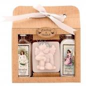 Bohemia Gifts & Cosmetics Vánoce sprchový gel 100 ml + Anděl ručně vyráběné mýdlo 80 g + Šípek a Růže olejová lázeň 100 ml