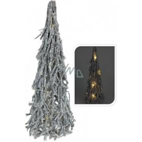 Stromček prútia strieborný LED dióda 42 cm