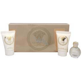 Versace Eros pour Femme parfumovaná voda 5 ml + sprchový gél 25 ml + telové mlieko 25 ml, darčeková sada