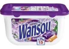 Wansou Double Caps Color univerzální dvoukomorové gelové prací kapsle 15 kusů x 25 g