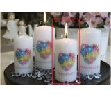 Lima S Věnováním Mamince svíčka s obtiskem červená válec 50 x 100 mm 1 kus