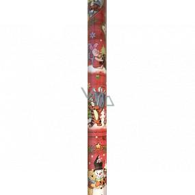 Ditipo Darčekový baliaci papier 70 x 200 cm Vianočný Disney Medvedík Pú Tiger červený