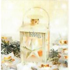 Nekupto Vianočné kartičky na darčeky Lucerna s hviezdou 6,5 x 6,5 cm 6 kusov