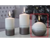 Lima Aróma línia sviečka svetlo hnedá guľa 80 mm 1 kus