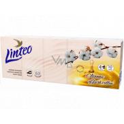 Linteo Premium hygienické vreckovky s vôňou bavlny 4 vrstvové 10 x 10 kusov