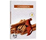 BISPOL Aura Cinnamon - Škorica vonné čajové sviečky 6 kusov