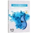 BISPOL Aura Anti Tobacco vonné vonné čajové sviečky 6 kusov