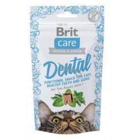 Brit Care Cat Snack Dental Krůta polomäkké doplnkové krmivo pre mačky 50 g