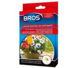 Bros Lepové doštičky do kvetináčov, láka a chytá škodcu na rastlinách 10 kusov + 5 úchytov