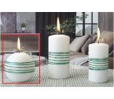 Lima Exclusive sviečka zelená guľa 80 mm 1 kus