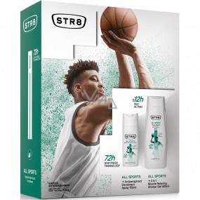 Str8 All Sports antiperspirant deodorant sprej pre mužov 150 ml + sprchový gél 400 ml, kozmetická sada