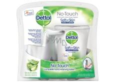Dettol Aloe Vera bezdotykový dávkovač mýdla a Hydratující náplň s mýdlem 250 ml