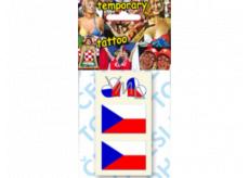 Arch Tetovacie obtlačky na tvár i telo 2 x Slovenská vlajka a 2 x srdce 1 kus
