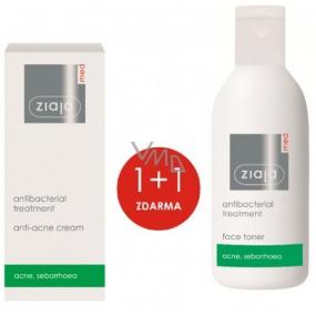 Ziaja Med Antibakteriálne ľahký pleťový krém proti akné 50 ml + čistiace tonik pre mastnú a problematickú pleť 200 ml, duopack
