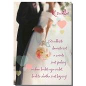 Albi Hrací přání do obálky K svatbě Když muž se ženou snídá Karel Gott 14,8 x 21 cm