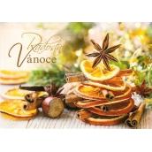 Nekupto Pohľadnica vianočné Pomaranč, aníz, škorica 15 x 11 cm