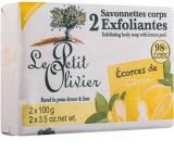 Le Petit Olivier Citron peelingové toaletné mydlo 2 x 100 g