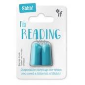 If Ticho prosím, čítam Štuple do uší Modrá