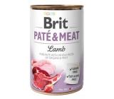 Brit Paté & Meat Jahňa a kurča čisté masové paté kompletné krmivo pre psov 400 g